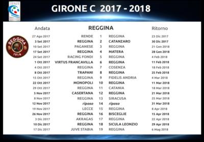 Calendario Juve Stabia.Serie C Girone C 2017 18 Il Calendario Completo Reggina